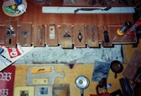 Objekte Mann mit Hut, Baum, Frau, Wachturm, Pokal, Walter